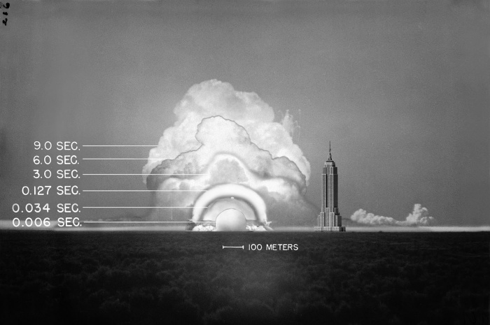 The Trinity explosion 0.016 seconds after detonation, 1945 (2)